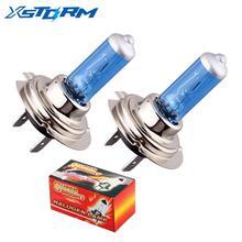 2 pezzi H7 100W 12V 55W fendinebbia bianco Super luminoso lampadina alogena fari per auto ad alta potenza lampada sorgente luminosa per auto parcheggio
