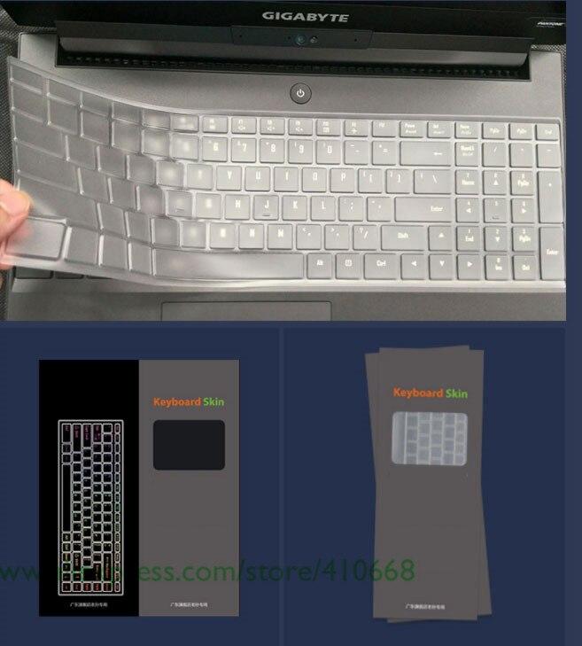 """For Gigabyte Aero 15 15X v8 v8-BK4 Aero 15W 15W-BK4 15.6"""" 15.6 inch TPU laptop keyboard cover protector Skin Guide"""
