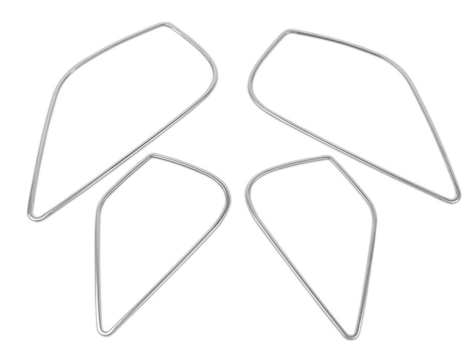 4 unids/set de marco de altavoz estéreo para puerta de coche, embellecedor cromado de estilismo, pegatina para Audi A3 8V 2014-2018 de acero inoxidable