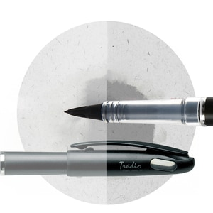 Japan Stationery Pentel Tradio Stylo Duckbill  Fountain Pen Felt Tip 1.0mm-2.0mm Sign Pen Graphics Design Caligraphy Pen