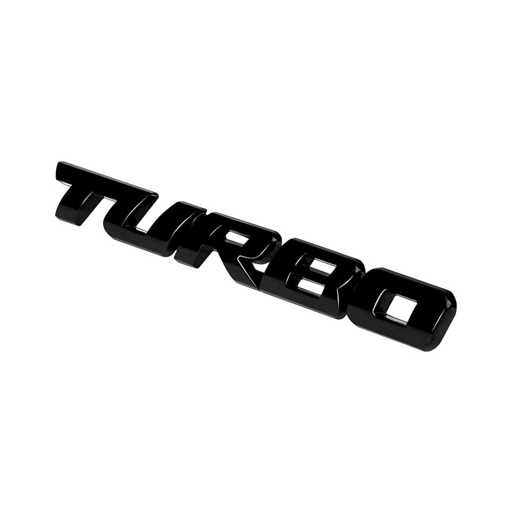 Coche 3D Metal pegatinas TURBO calcomanía de logo emblema para parte trasera de carrocería insignia para la plataforma trasera para Mercedes Benz W212 W211 W210 W202 AMG estilo de coche