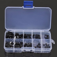 150pcs/lot Nylon Hex Screw Kit Black M2 M2.5 M3 M4 M5 Bolt Nut Standoff Spacer Assortment Set Non-magnetic