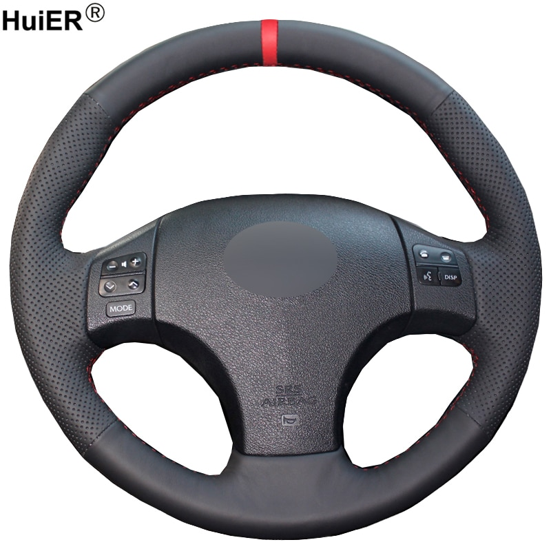 HuiER ручной швейный чехол рулевого колеса автомобиля дышащий красный маркер для Lexus IS is250 is300 is350 руль авто аксессуары