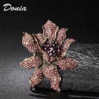 donia jewelry new beautiful flower brooch horse eye glass large winter womens fashion brooch accessories scarf pin gift
