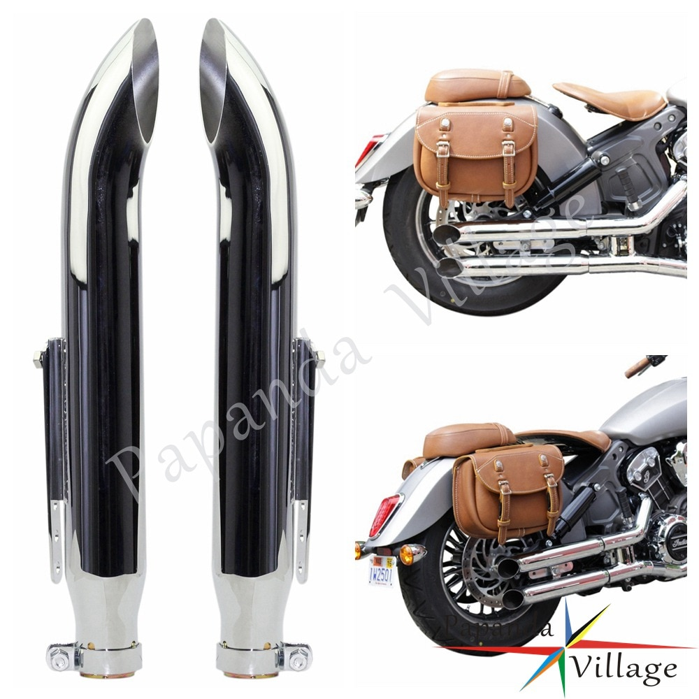 Silenciador de Escape universal para motocicleta Retro Vintage cromo antiguo silenciador Escape Moto para Harley CG125 SR400 CB500 VT500 W800