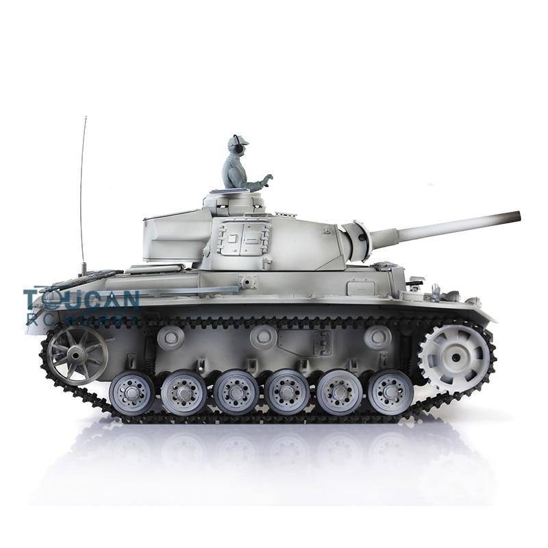 1/16 escala HengLong versión de plástico alemán Panzer III L RTR RC tanque modelo 3848 invierno nieve TH00031