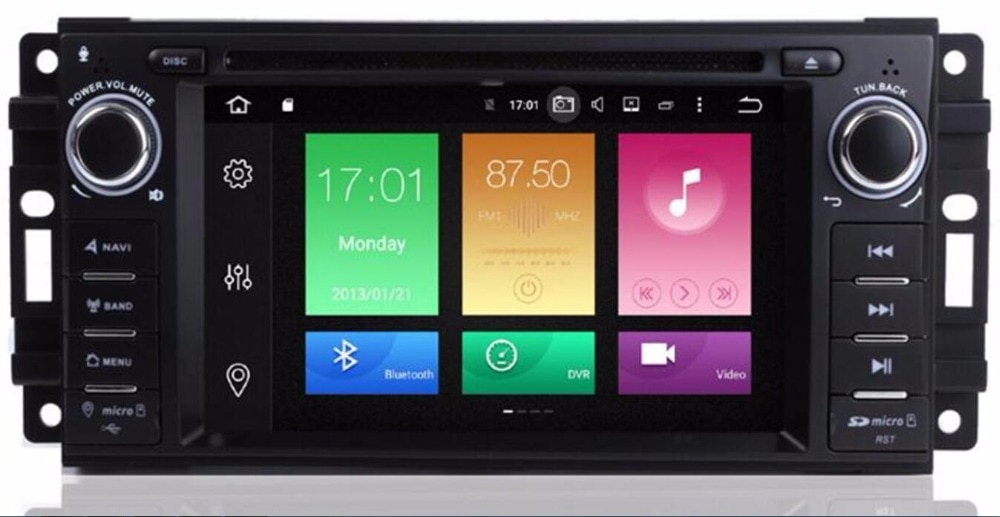 Coche reproductor de DVD GPS Android 9,0 para JEEP Wrangler brújula patriota Grand Cherokee Octa 8 Core 4G RAM 32G ROM Radio BT DAB + Mapa Wifi