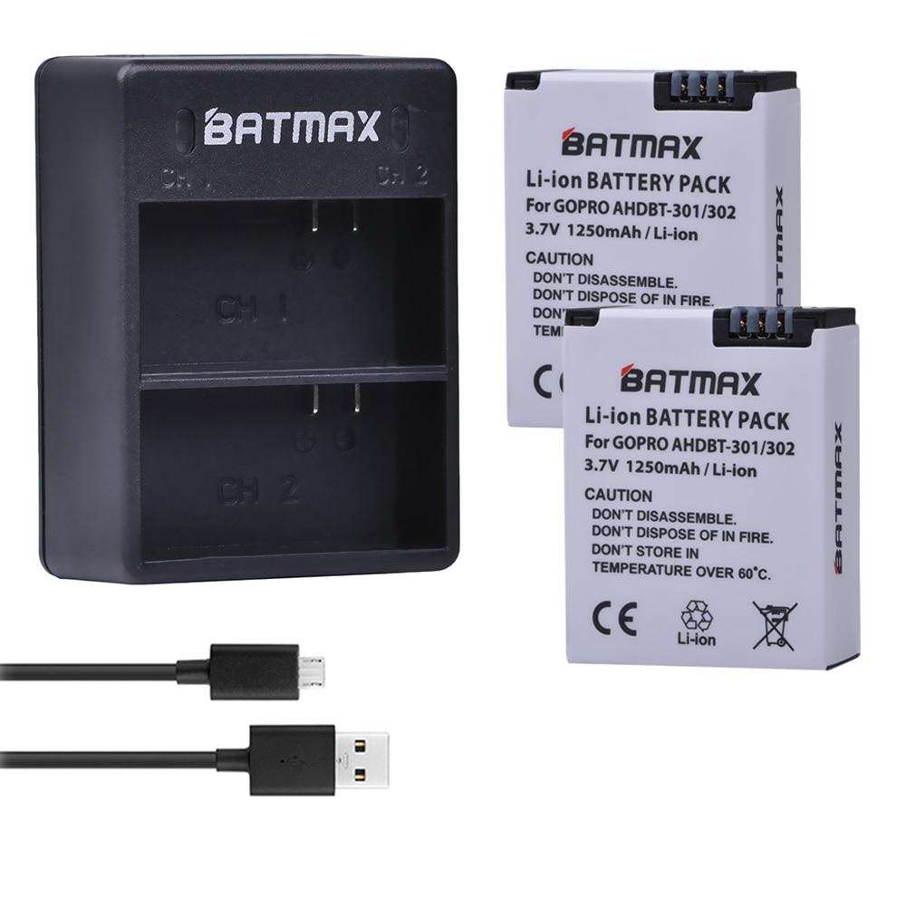 2 шт. аккумулятор + двойное USB зарядное устройство для Go Pro Hero 3 3 + gopro3 gopro 3 Hero3 батареи, черная версия, белая, серебристая версия, HD камера