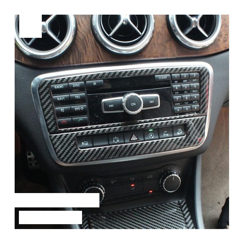 Lsrtw2017 reproductor de cd de fibra de carbono para coche con paneles de condcionador de aire para mercedes benz gla200 gla180 gla250 cla180 cla200 cla250