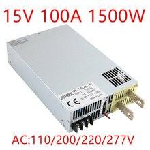 1500W 100A 15V power supply 15V 0-15v Adjustable power AC-DC High-Power PSU 0-5V analog signal control SE-1500-15
