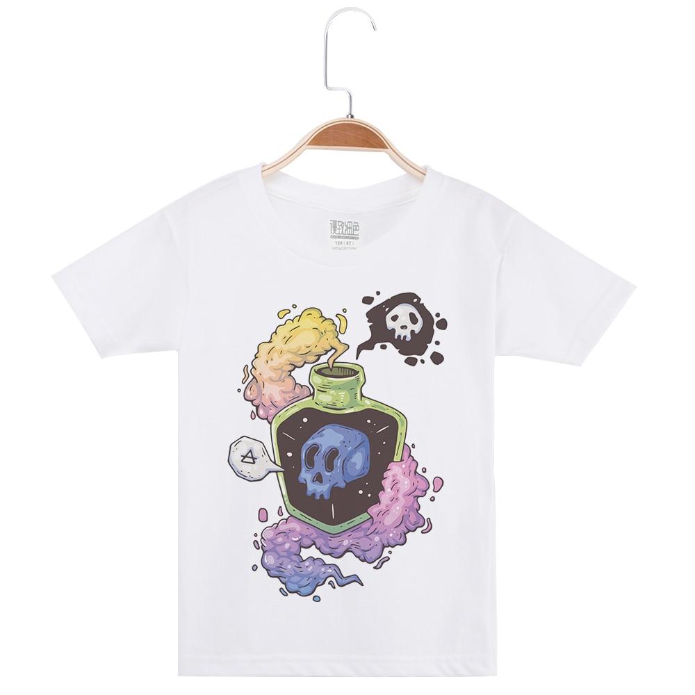 Новое поступление 2019, брендовые футболки для мальчиков, детские футболки с коротким рукавом, топы, футболки с принтом черепа для мальчиков, ...