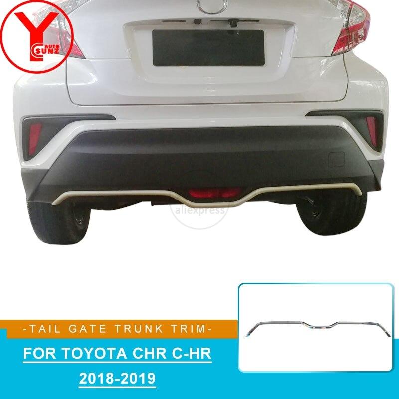 YCSUNZ ABS cromo parte trasera del maletero embellecedor maletero protección piezas de coche accesorios de estilo de coche para toyota chr c-hr 2018 2019