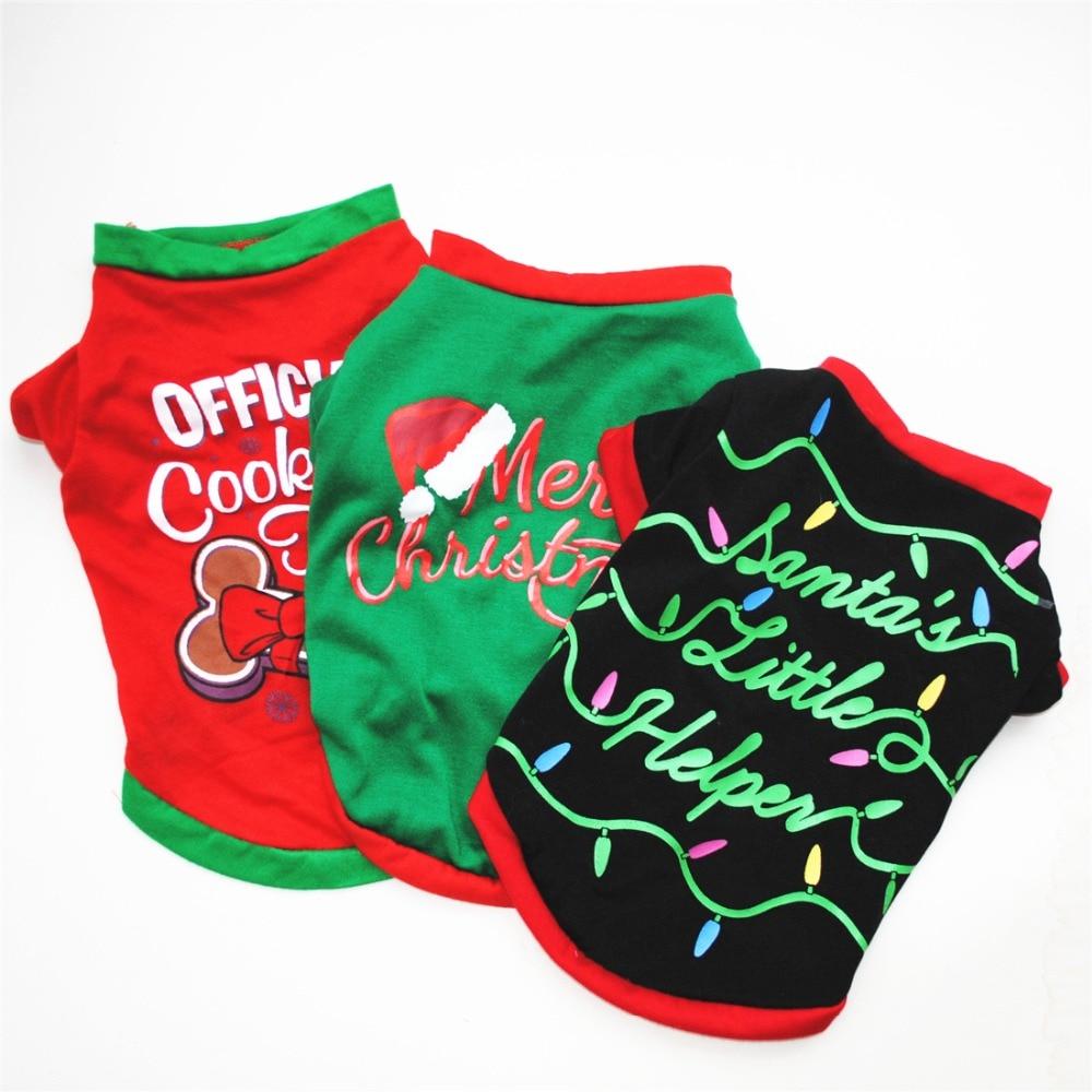 Chaleco de algodón para perro de Festival de Navidad, ropa a la moda para perros pequeños, disfraz de vacaciones para mascotas, chalecos para gatos, ropa para Chihuahua