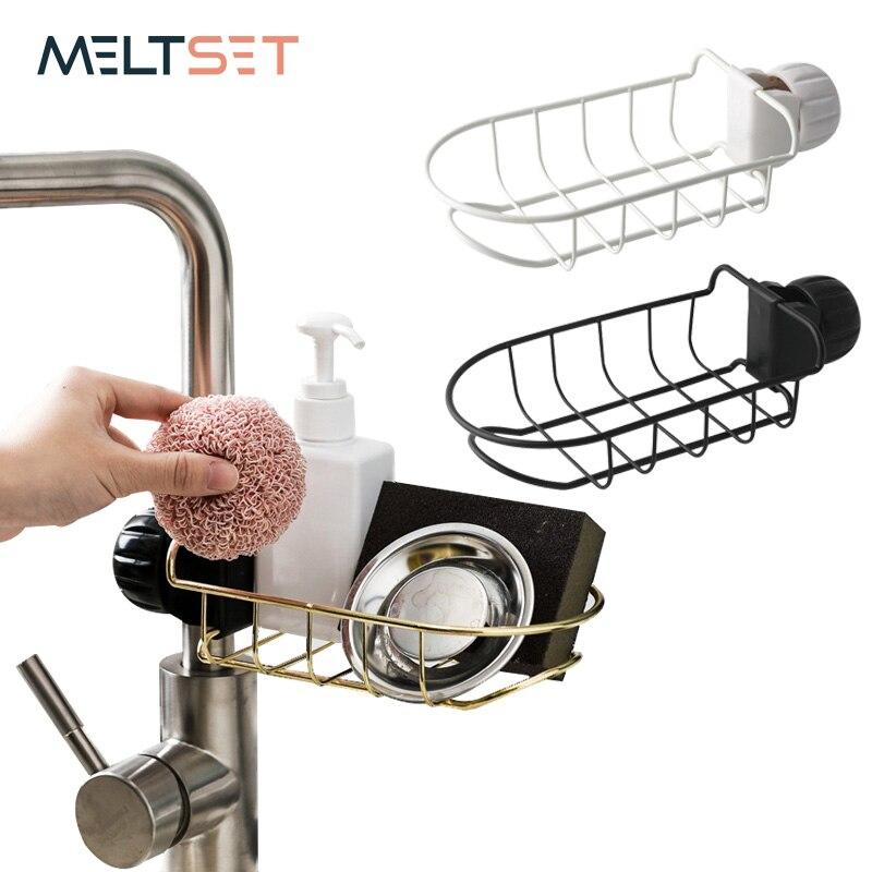 Creative Faucet Rack Stainless Steel Sink Hanging Storage Racks Bathroom Kitchen Dish cloth Clip Shelf Drain Dry Towel Organizer