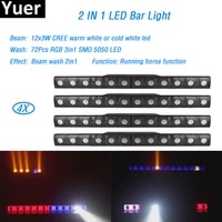 4pcslot 12x3w led bar light led 72pcs rgb 3 in 1 smd wall washer lights wash wall bar disco light party show wedding dj lights