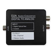 Convertisseur Audio numérique vers analogique adaptateur de Signal coaxiale optique Toslink vers convertisseur Audio analogique adaptateur câble RCA USB 2.0