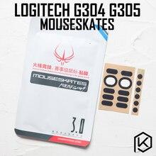 Hotline games 2 sets/pack competition level mouse feet skates gildes for logitech g304 g305 0.6mm thickness Teflon