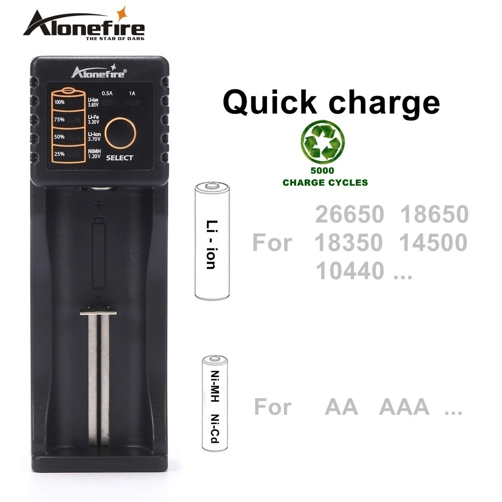 Alonefire MC101 Intelligent Li-ion 3.7v Rechargeable batteries Ni-MH Ni-Cd 1.2V USB charger For 26650 18650 18350 16340 10440 trustfire tr 020 battery charger household powerbank for li ion imr 18650 26650 32650 ni mh ni cd aa rcr123a rcr123 batteries