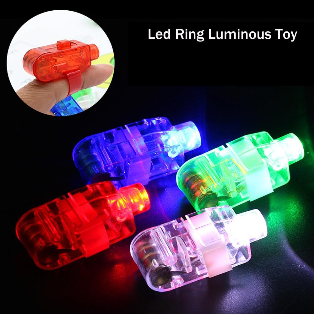 100 unids/set anillo Led luminoso juguete luz brillante neón barra resplandor baile brillante suministro para eventos de fiesta