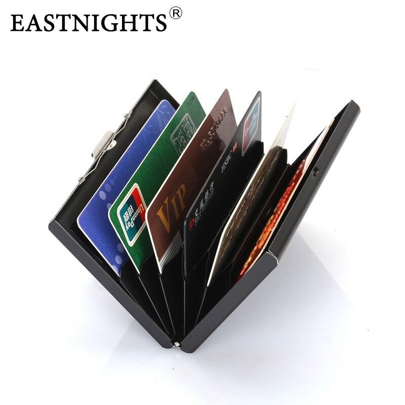 High-grade de Aço Titular do Cartão de Crédito Case do Cartão Caixa de Cartão de Banco de Metal Eastnights Atacado Lote Inoxidável Homens Mulheres 5 Pçs –