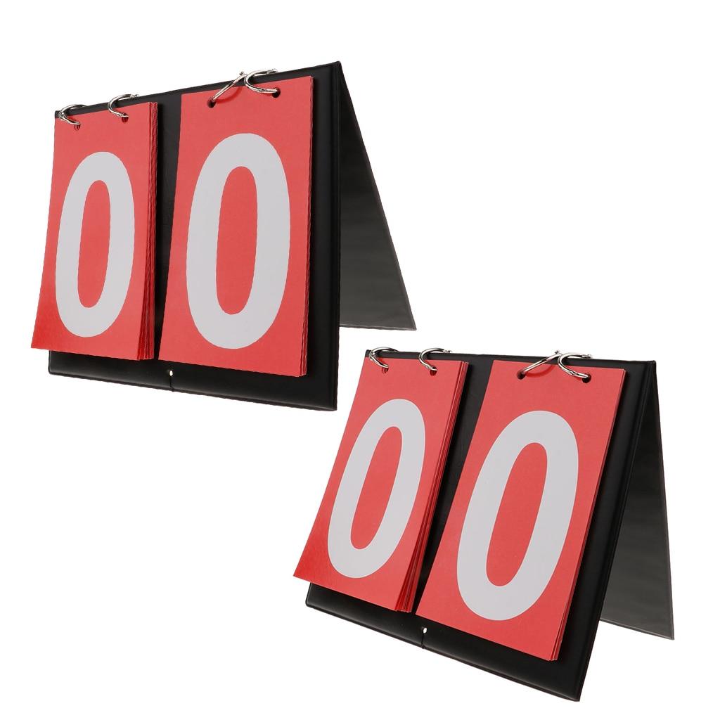 2 предмета Водонепроницаемый спортивной одежды, комплект 2-цифровое табло столешница флип граф доска для игры в баскетбол, волейбол