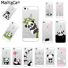 MaiYaCa lindo Animal Panda suave TPU silicona móvil Fundas para iPhone 8 XS XR XS MAX 5S 6 6s 7plus 6plus 7plus 11pro caso