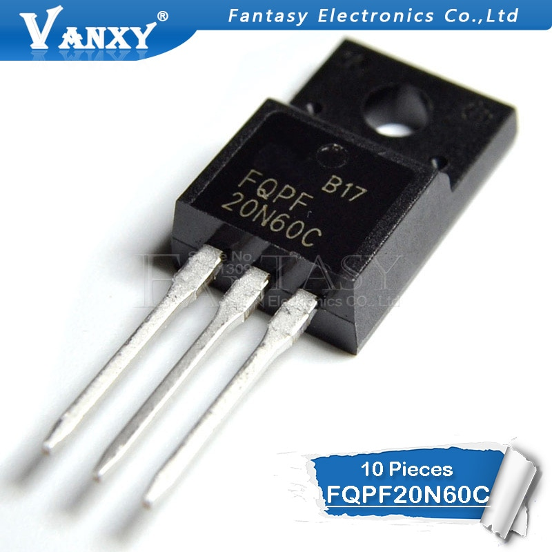 10PCS FQPF20N60 TO220 20N60 20N60C FQPF2060C FQPF20N60C TO-220
