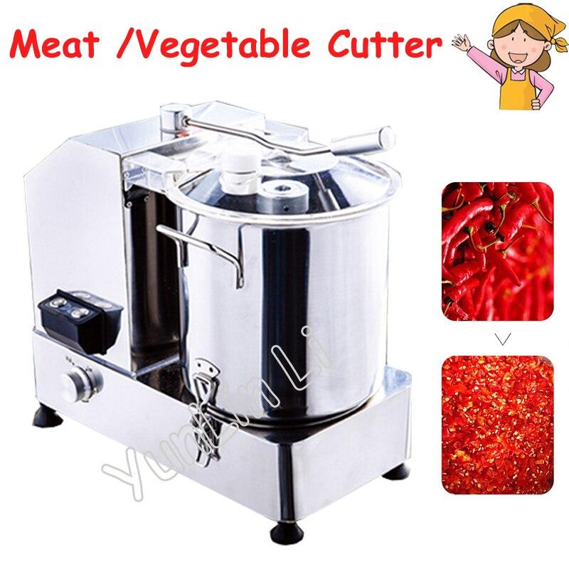 Picadora eléctrica de carne/verduras 110 V/220 V máquina de corte de alimentos mezcladora multifuncional mezcladora de relleno comercial HR-6