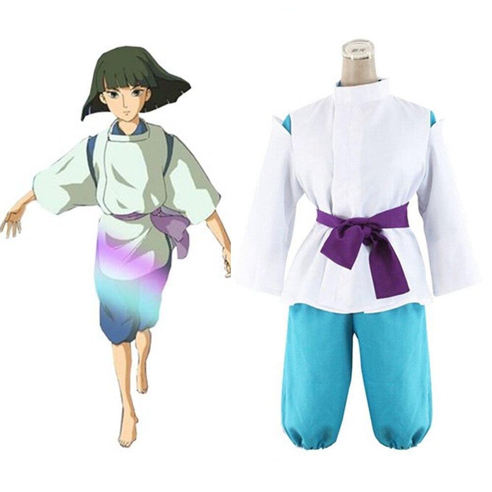 Anime Hayao Miyazaki en espíritu Kimono Chihiro Cosplay Sen Haku Miyazaki Cosplay traje hecho a la medida