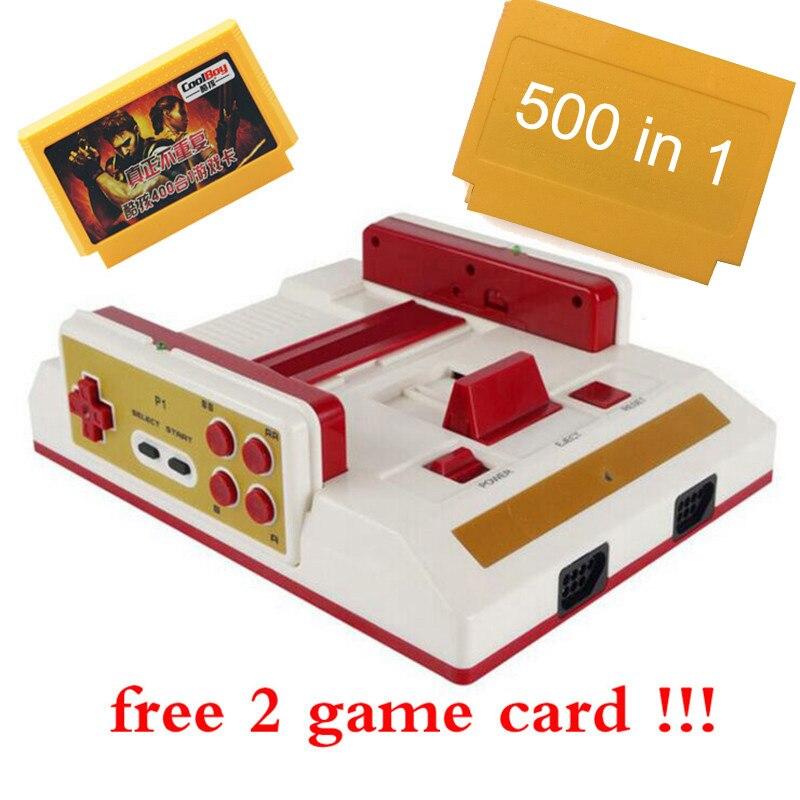 Neue Familie TV Videospielkonsole Mit Wireless Gamepad Controller High Definition HDMI TV Out Für 8bit spiele + 500 in1 spiel karte