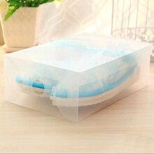 12 pcs Transparante Plastic Schoenen Opslag Dozen Makeup Box Case Houder Opvouwbare Schoenen Doos Mannen/Vrouwen/Kinderen