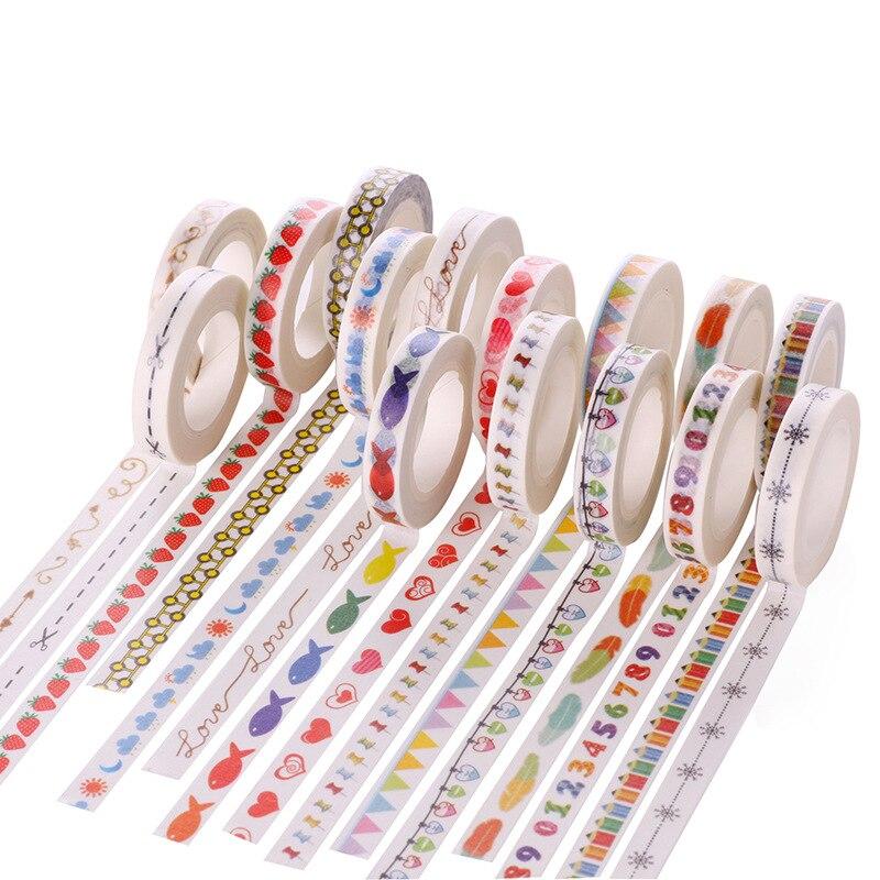 Cinta adhesiva decorativa de papel japonés DIY, cinta Washi para chicas dulces de dibujos animados/adhesivos de cinta adhesiva tamaño 8mm * 10m JD89