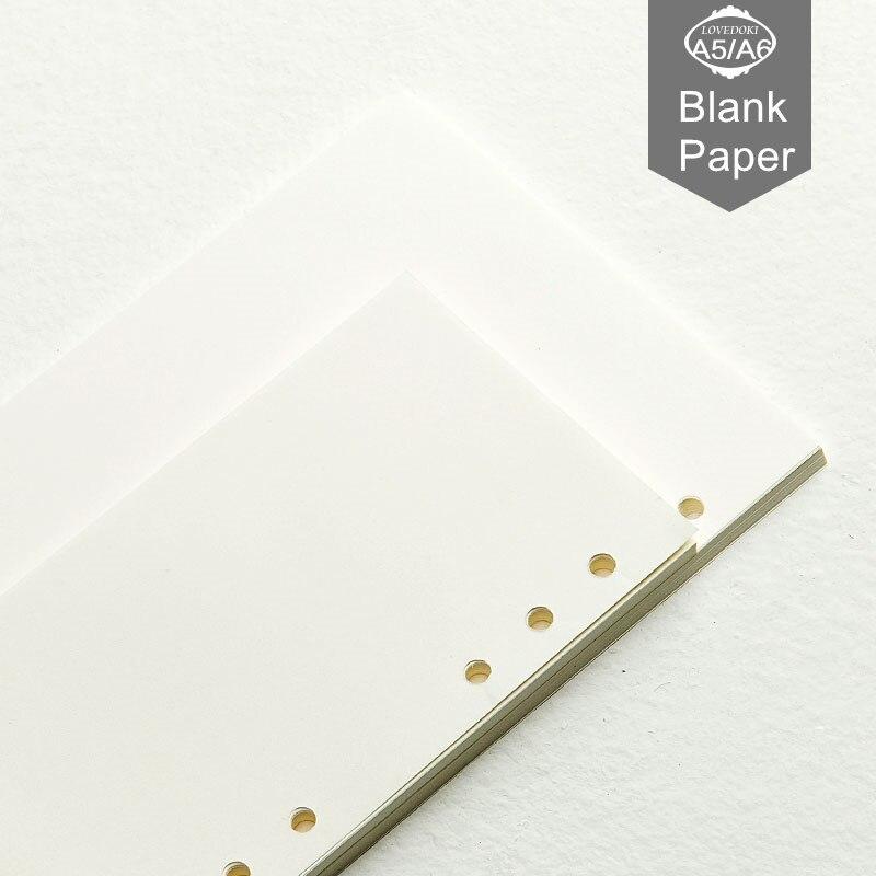 Filo filo fax padrão a5 a6 a7 frouxa-folha reenchimento hardiron whellote diário memorandos espiral todos os papéis de enchimento em branco