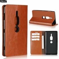 Deluxe Brieftasche Fall Fur Sony Xperia XZ2 Premium leder Fall holster fur Sony XZ2 Premium Flip Abdeckung Telefon beutel