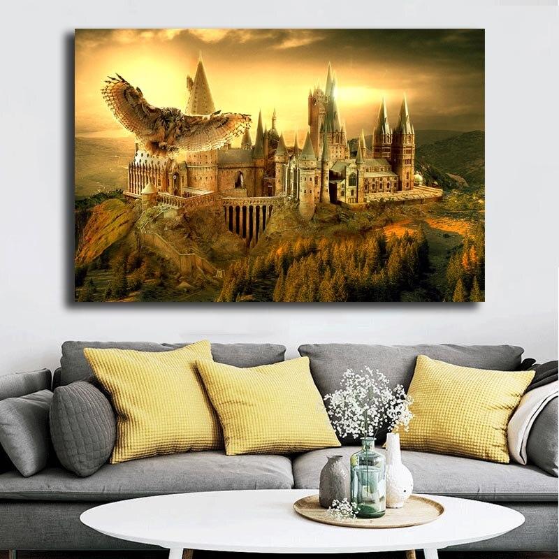 Pósteres de lienzo de la Escuela de brujería y arte de pared cuadro de pintura decorativa decoración moderna del hogar