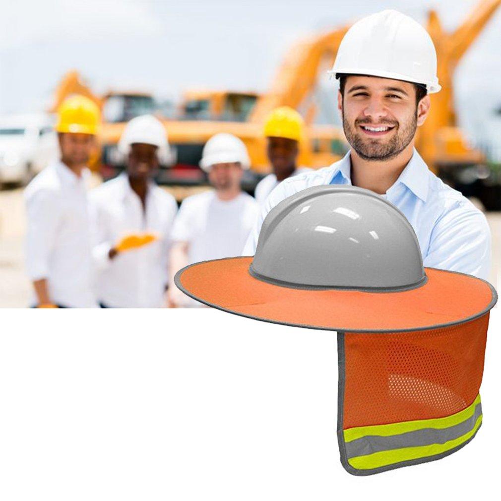 Gorra dura, protección para el cuello, protección solar con tira reflectante y malla de alta Visable, diseño para cascos