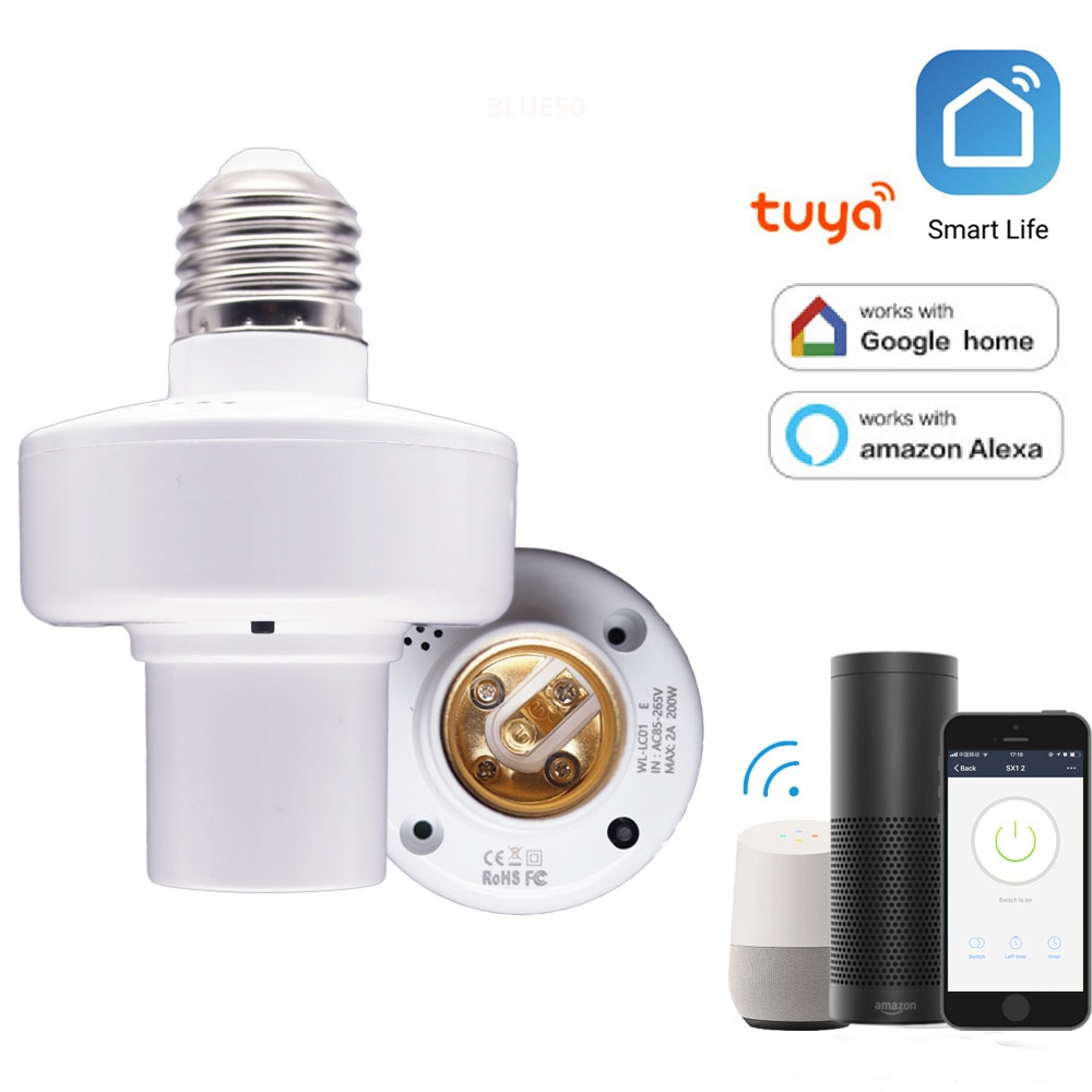 Smart WiFi Licht Buchse E26/E27 Birne Adapter App Fernbedienung Wireless Voice Control Licht Lampe Bull für Alexa google Hause