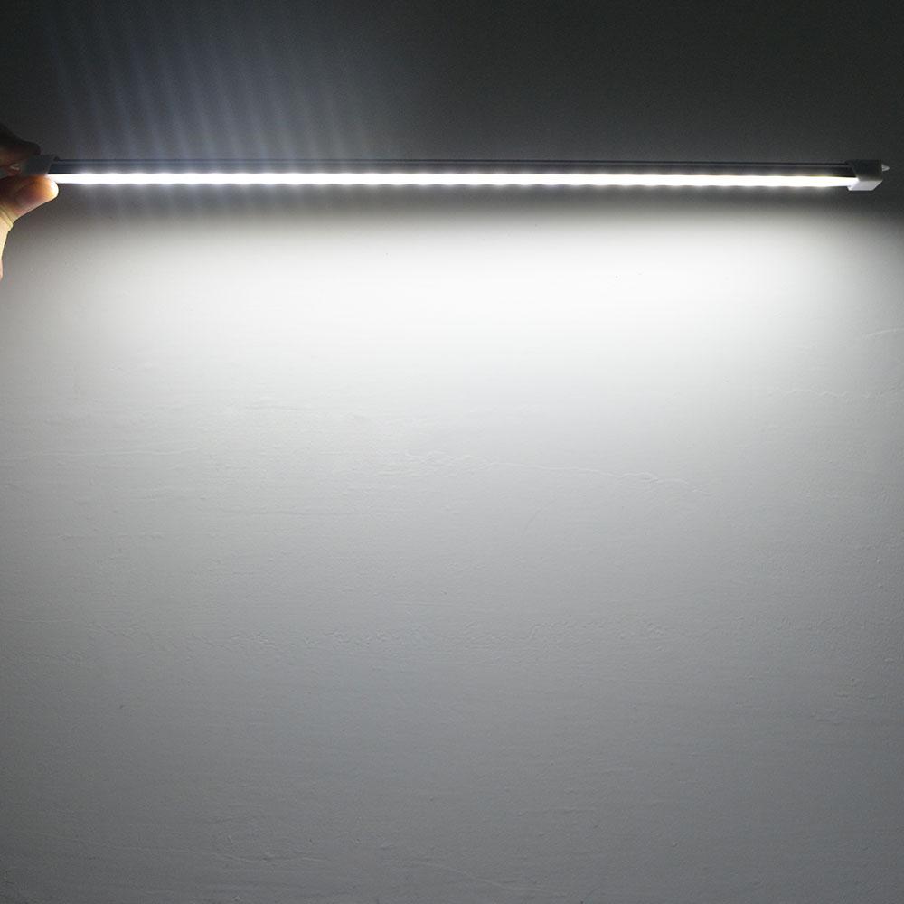 Lámpara LED 5V 5730 SMD, 24 LED 18/35CM, tubo LED alimentado por USB, tira de luces rígida, barra de luces para lectura, libro de escritorio, luz nocturna cálida