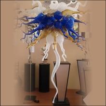 Les lustres en verre soufflés à la main en cristal modernes éclairent la couleur adaptée aux besoins du client pour le décor de salon
