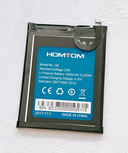 Para HOMTOM S8 HTS8 batería 3400 mAh alta calidad tiempo de espera largo teléfono móvil batería HOMTOM accesorios móviles