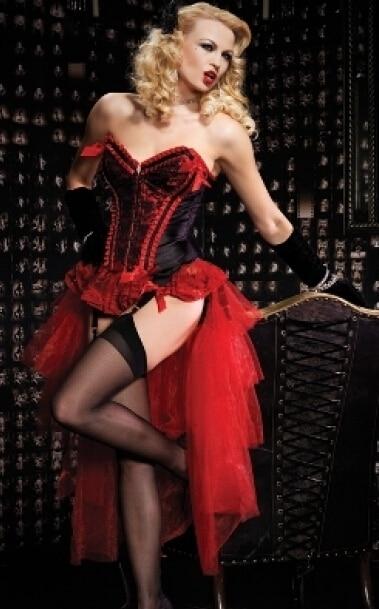 new sexy long burlesque skirt corset costume Burlesque Corset & tutu /skirt Fancy dress outfit drop shipping kostume