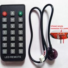 HUIDU-control remoto por infrarrojos, tarjeta de control LED de un solo y doble color, adecuado para programar el giro de la página