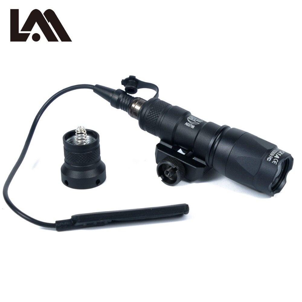 LAMBUL M300 M300C Luz Olheiro Ferroviário Tático Rifle de Caça Lanterna Tocha Luz Constante/Saída Momentânea para 20 milímetros Ferroviário