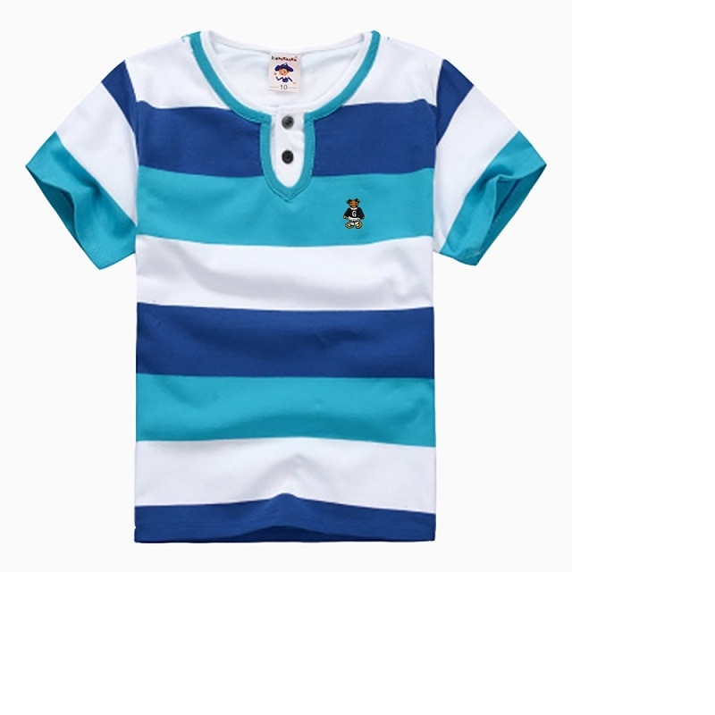 Высококачественная дышащая футболка для мальчиков брендовая детская одежда детская модная одежда хлопковая летняя футболка с коротким ру...