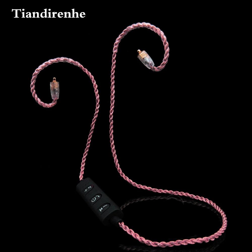 Cable inalámbrico Bluetooth MMCX para Shure SE215 SE535 SE846, auricular para Sennheiser, auriculares ie80 ie8I UE TF10 TF15 ZST ZS3