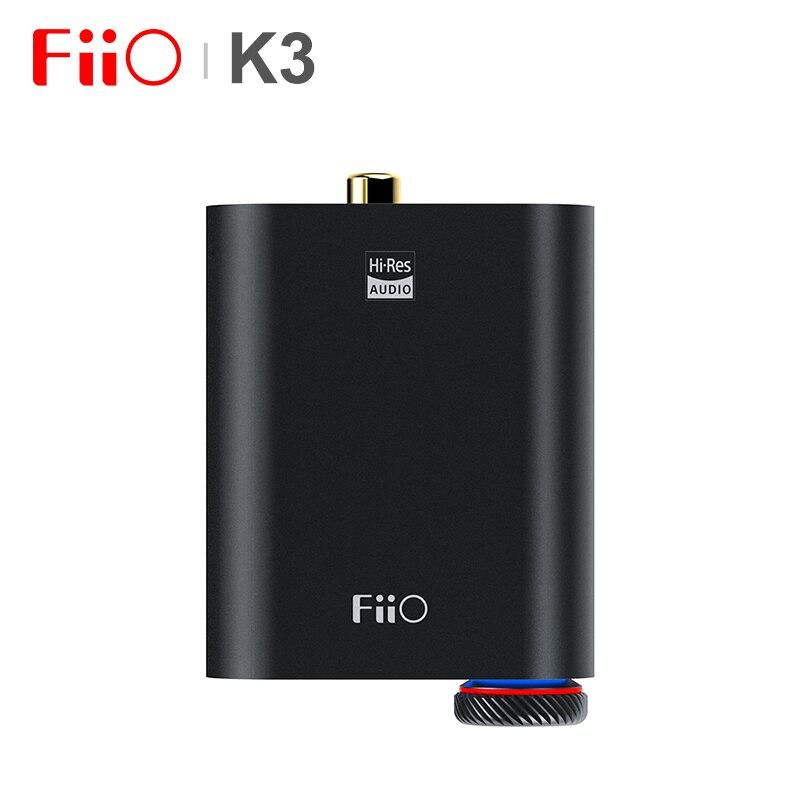 FiiO K3 мини портативный усилитель для наушников Настольный усилитель USB-C DAC AKM AK4452 поддержка коаксиальных оптических цифровых выходов PCM384k/DSD256