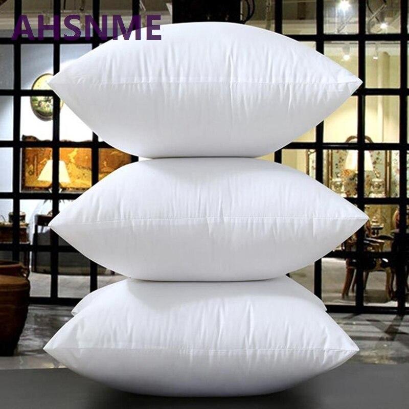 Biały jeden poduszka siedziskowa biały jedwab wypełniony prostokąt pościel/hotel/poduszki domowe 45*45cm/50*50cm/60*60cm/70*70cm