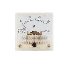 91C4 DC 0-30 V Volt carré voltmètre analogique panneau jauge