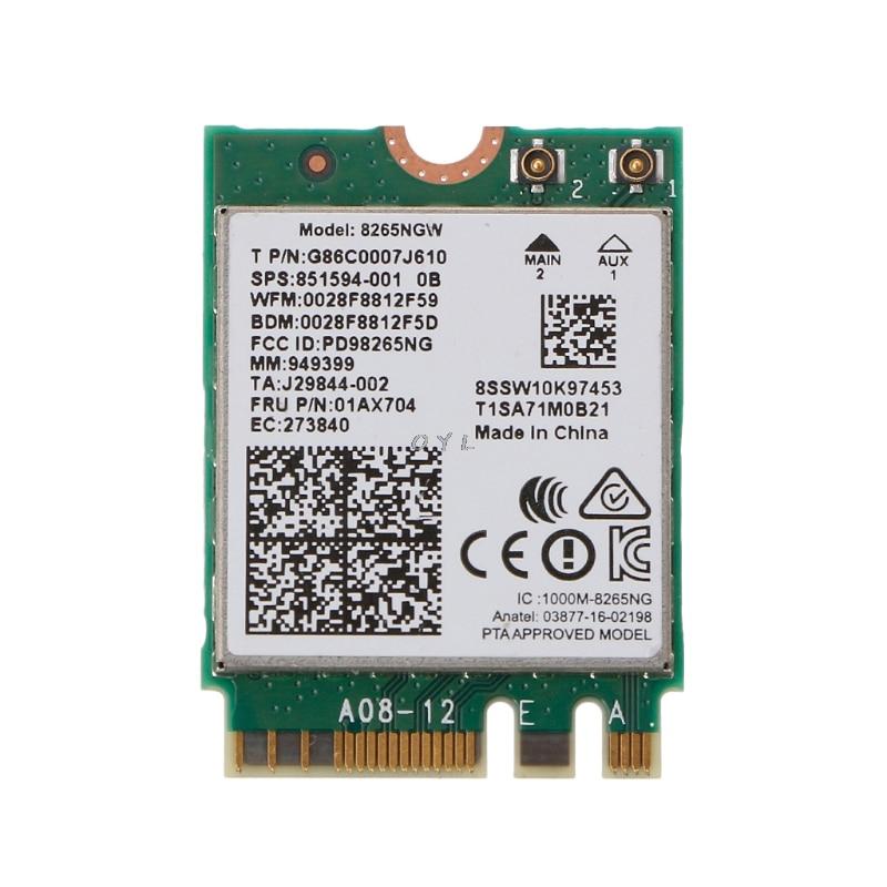 Tarjeta Wifi de banda Dual inalámbrica de última generación para Intel 8265 AC AC8265 8265NGW M.2 2,4/5GHz