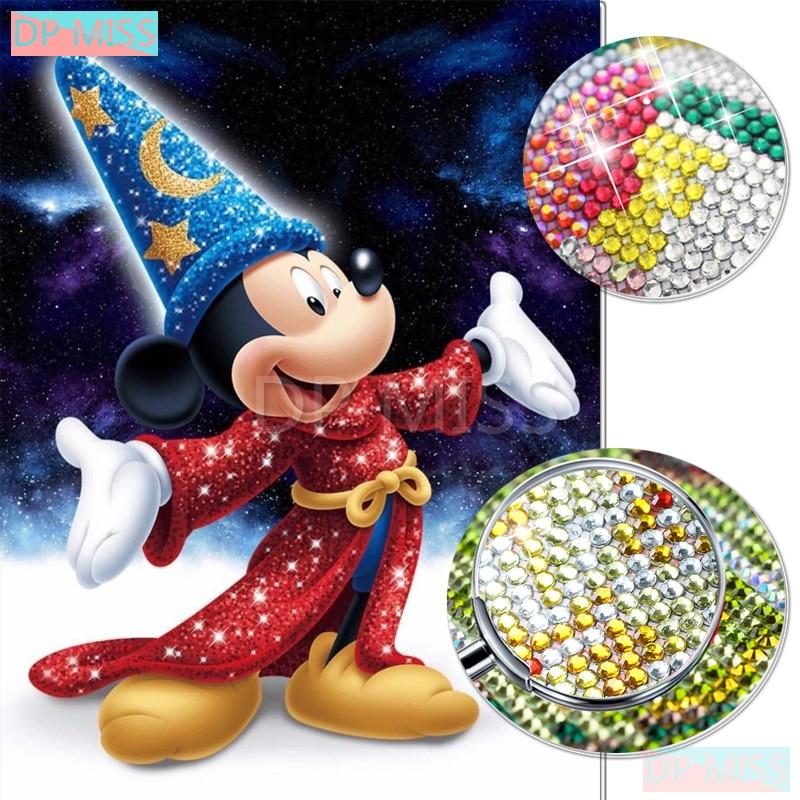 """Parcial 5D Crystal Round Drill pintura de diamante """"Mouse"""" DIY bordado de diamantes de punto de cruz mosaico Rhinestone Decoración"""